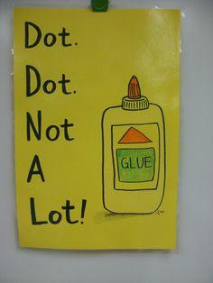 Art, It's Elementary! -- Classroom Sign  Dot Dot Not A Lot