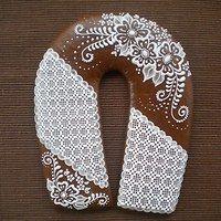 Sugar Art, Burlap Wreath, Cookie Decorating, Food And Drink, Shoe, Cookies, Crochet, Kuchen, Crack Crackers