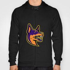 Australian Kelpie Dog Mascot Hoody Double-tap to zoom Hoody, Double Tap, Retro Fashion, Dog, Sweatshirts, Tees, Sweaters, T Shirt, Jackets