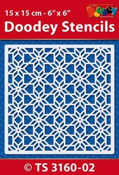 Doodey Stencil Achtergrond pattern TS3160-02 - Stencils
