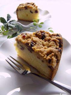 クランベリーシュトロイゼルのバターケーキ