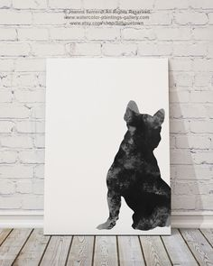 French Bulldog Unique Home Decor, Man Gift, Dog Illustration Frenchie Drawing, Wall Art, Wall Decor by Silhouetown on Etsy