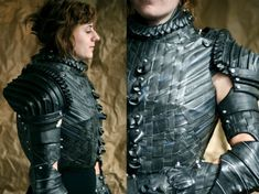 """""""Taking inspiration from Joan of Arc, Chicago-based designer Grace Duval transformed a slew of old bicycle inner tubes into armor fit for the mother of all martyrs herself."""""""