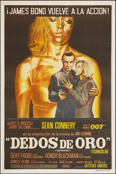 """Goldfinger (United Artists, 1964). Argentinean Poster (29"""" X 44""""). James Bond.  Starring Sean Connery, Honor Blackman, Gert Frobe, Shirley Eaton, Tania Mallet, Harold Sakata, Bernard Lee, Lois Maxwell. Directed by Guy Hamilton."""