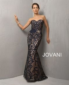 Evening Gown- Jovani Blue This could make a very nice Mother of The Bride or Groom Dress.. just saying