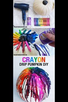 If I did this, I would line up the crayons with the ridges, but the way the colors overlap is pretty nifty.
