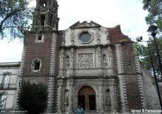 Iglesia de San Fernando na cidade do México     foto : Cida Werneck