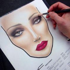 facechart by MakeUpBrock