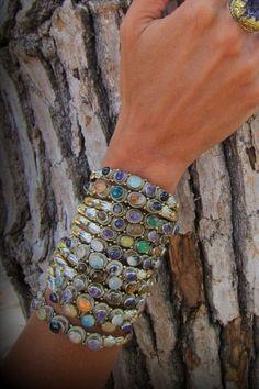 Natalie B. jewelry <3 Isa Multi Stone Cuff Bracelet