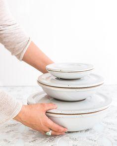 Set of Nesting Covered Bowls - Sarah Kersten Studio Ceramic Bowls, Ceramic Pottery, Pottery Bowls, Ceramic Art, Keep Food Warm, Heath Ceramics, Kitchenware, Tableware, Cooking