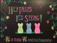 Chalkboard art - spring