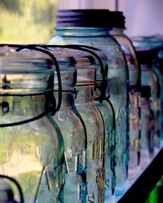 mason jars, apothecary bottles and glassware -- they fascinate me ... ? maybe the shapes, or the possibilities ...
