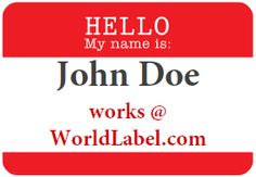 389 best name badge images on Pinterest   Name badges, Name tags and ...