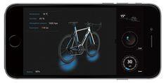 ORBITREC に搭載されたセンサーからの情報を受け取り、表示するスマートフォンアプリ。