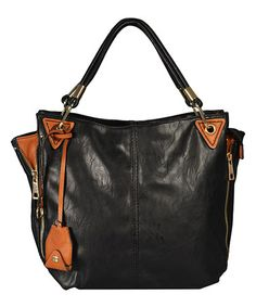 Another great find on #zulily! Black Cora Tote by Amore #zulilyfinds