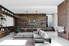 Our favourite rooms from the 2015 Australian Interior Design Awards Living Room Modern, Living Room Designs, Living Room Decor, Dining Room, Room Kitchen, Dining Living Room Combo, Pallet Walls, Wooden Walls, Wood Interior Walls
