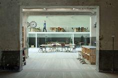 Churtichaga+Quadra-Salcedo Architects / The Hub Madrid. Co-working space. Love the raw finishes and patina.