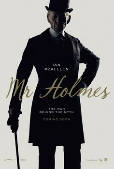An aged, retired Sherlock Holmes looks back on his life, and grapples with an unsolved case involving a beautiful woman in MR. HOLMES (Bill Condon, 2015) with Ian McEllen as the famous detective.