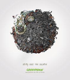 Greenpeace - Bring Back the Balance - Dalip Singh #campaign #art #climate