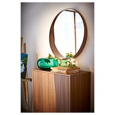 IKEA - STOCKHOLM, Mirror, , Provided with safety film - reduces damage if glass is broken.The frame around the bottom of the mirror forms a shelf where you can put Ikea Stockholm, Stockholm Mirror Ikea, Design House Stockholm, Ikea Deco, Home Decoracion, Ikea Family, Small Shelves, Walnut Veneer, Colors