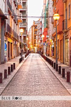 An evening view of the streets in Lloret de Mar, Spain.  For more, please visit: www.bluerosedesigns.ca   #LloretdeMar #Spain #Travel #Architecture #Photography #Europe