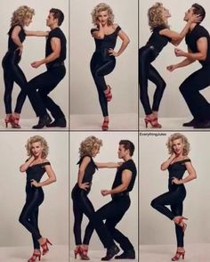 """""""Sandy and Danny. ❤️ New promo pics for Grease Live! I CAAAN'T WAIT. #JulianneHough #AaronTveit #GreaseLive"""""""