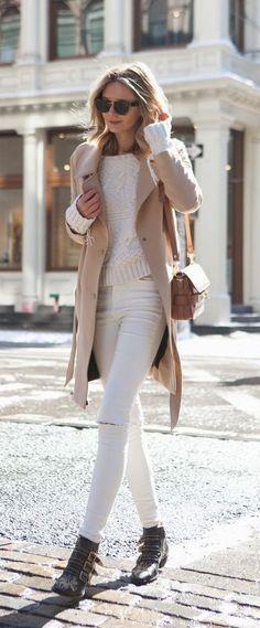Tan + white.