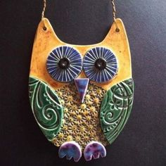 Love the colors and textures of easy clay owl.