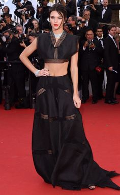 Kendall Jenner Flaunts Her Abs in Black Crop Top at the 2015 Cannes Film Festival?Plus, See Her Twirling Like Lupita Nyong'o!
