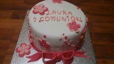 Tarta comunión para Laura