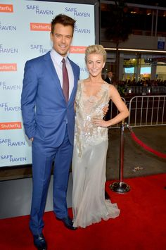 Josh Duhamel and Julianne Hough at the Safe Haven Premiere