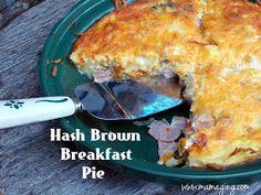 Hash brown breakfast egg pie