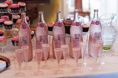 Sparkling pink lemonade @ baby shower