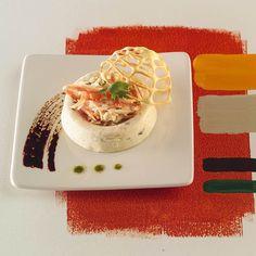 Mousses gingembre et duo de crustacés en cage par Guy Demarle