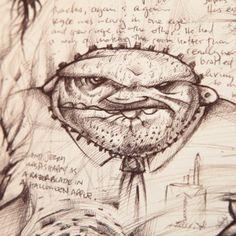 www.instagram.com/hedcheq  Office monster. #monster #monsterart #drawing #sketch #blackbooks #artcommunity