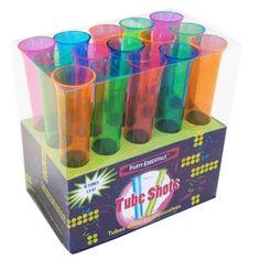 Kolorowe kieliszki w kształcie fiolek - ciekawy pomysł, który sprawdzi się podczas szalonej imprezy