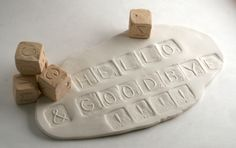 Clay Stamp Alphabet Dice Six-Sided Cube Stamp
