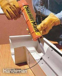 Gutter replacement: Create stronger, better-looking gutters by modifying standard guttering. assemble strong, sleek-looking seams, etc. House Gutters, Diy Gutters, Rain Gutter Installation, How To Install Gutters, Home Fix, Diy Home Repair, Roof Repair, Vinyl Siding, Home Repairs