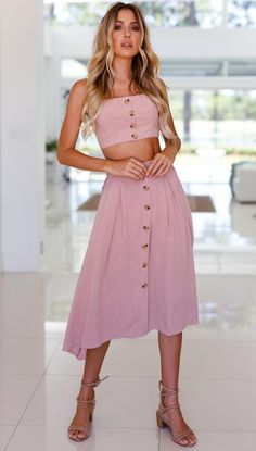 Portofino Skirt (Blush) Mura Boutique
