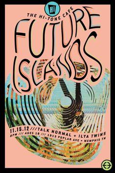 Future Islands concert poster design