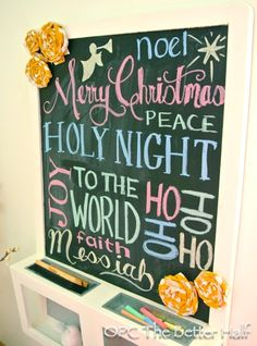 Christmas Chalkboard - OPC The Better Half