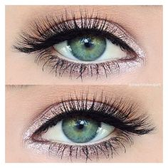 """Makeup Artist on Instagram: """"Simple sparkly pink #eotd using just 2... ❤ liked on Polyvore featuring beauty products, makeup, eye makeup, eyeshadow, cream eye shadow and cream eye makeup"""