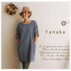 【Fanaka ファナカ】 裏毛 ボックス ワンピース (42-2258-201)