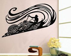 Wall Decal motorcycle decals motorbike decal harley wall decal harley davidson wall decal motor bike vinyl sticker wall art t2107 - Copy Listing - u2026 & Wall Decal motorcycle decals motorbike decal harley wall decal ...