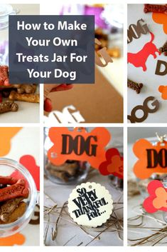 Thankful Treat Jars for Dogs, create your own thankful dog treat jar to pass out for gifts this holiday season, easy DIY and fun for crafting Fun Crafts, Diy And Crafts, Crafts For Kids, How To Make Something, Dog Treat Jar, Make Your Own, Make It Yourself, Dog Treats, Homemade Gifts