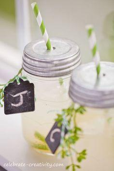 drink tags using chalkboard paint