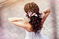 Beautiful curly, down hair