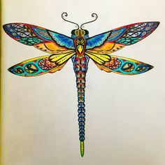 Dragon fly from Enchanted Forest coloring