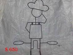 Resultado de imagen para como hacer portamacetas de hierro