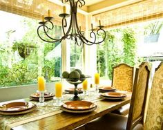 Great Traditional Sunroom Dining Room Decoration